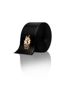 Black satin blindfold